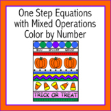 Halloween One Step Equations Mixed Operations Color by Num