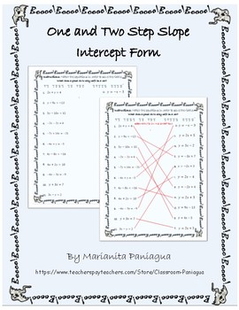 Halloween: One and Two Step Slope-Intercept Form Worksheet (REVISED)
