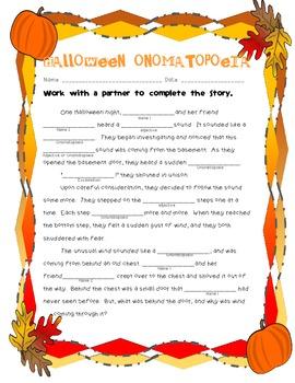 Halloween Onomatopoeia!