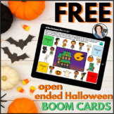 Halloween Open Ended Game FREE Sample     Boom Cards™