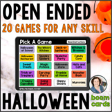Halloween Open Ended Games for ANY skill | BOOM CARDS™