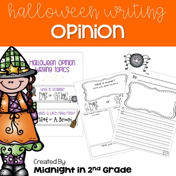 Halloween Opinion Writing Common Core Aligned