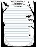Halloween Opinion Writing: Dracula Vs. Frankenstein