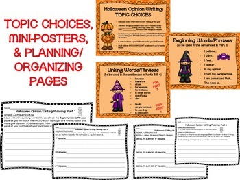Halloween Opinion Writing--Persuasive--Piece Pack--Common Core Aligned