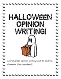 Halloween Opinion Writing Unit: Best Costume!