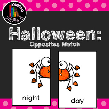 Halloween Opposites Antonyms Game and Recording Page