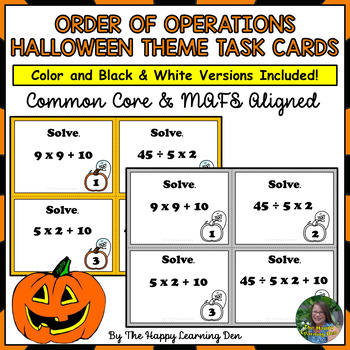 Order of Operations (Halloween Theme)