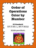 Halloween Order of Operations Color by Number
