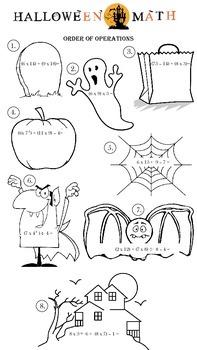 Halloween Order of Operations Grade 5