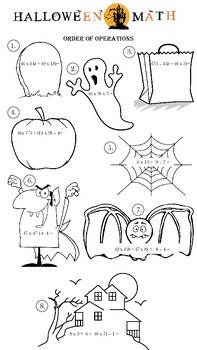 Halloween Order of Operations Grade 5