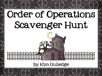 Halloween Order of Operations Scavenger Hunt - Around the