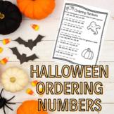 Halloween Ordering Numbers- 2, 3, and 4 digit numbers!
