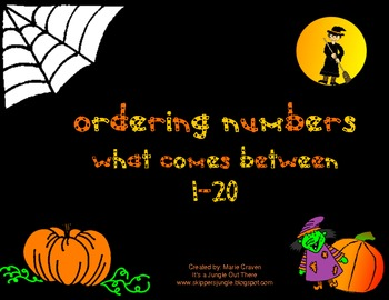 Halloween Ordering Numbers: What Comes Between 1-20 Game
