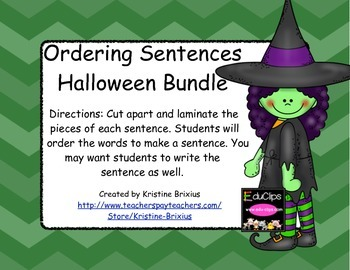 Halloween Ordering Sentences