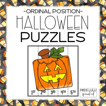 Free Halloween Ordinal Number Puzzles