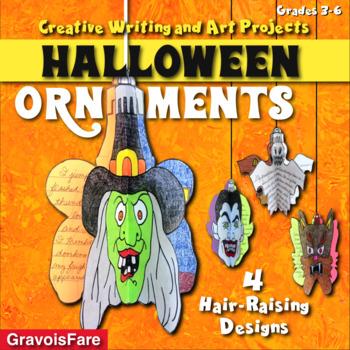 Halloween Ornaments - 4 Different Crafts - Ghost, Vampire, Witch, & Werewolf