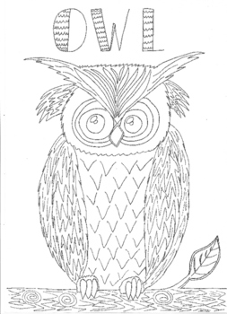 Halloween: Owl Colouring Sheet