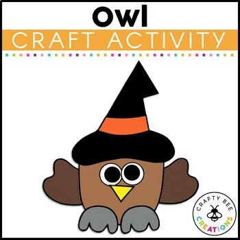 Halloween Owl Cut and Paste