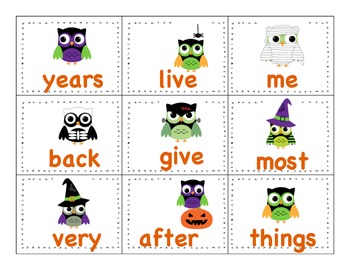Halloween Games VOWEL TEAMS & HIGH FREQUENCY WORDS