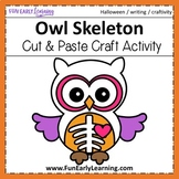 Halloween Owl Skeleton Craft Activity with Writing Prompts