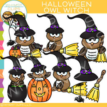 Halloween Owl Witch Clip Art