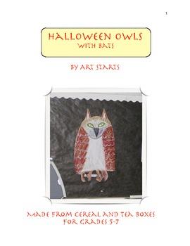 Halloween Owls With Bats