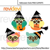 Halloween Owls With Glasses Clip Art Freebie