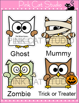 Halloween Writing Cut-Outs - Halloween Activities: Zombie, Vampire, Witch, Ghost