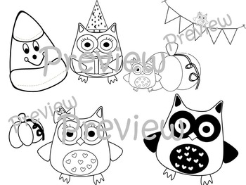 Halloween Owls for Commercial or Personal Use