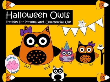 Halloween Owls for Commercial or Personal Use Freebies