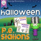 Halloween P.E. Stations