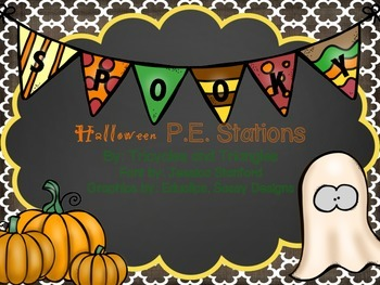 Halloween P.E. Stations