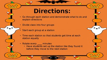 Halloween PE Stations