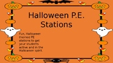 Halloween PE Stations