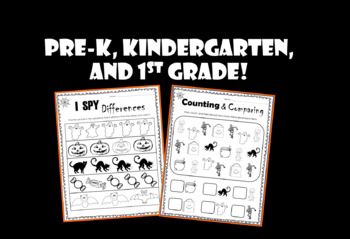 Halloween PRINT AND GO Worksheets - (NO PREP)