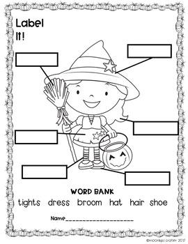 Halloween PRINT AND GO  for Kindergarten