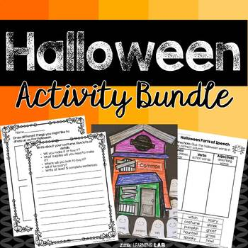 Halloween Activities Bundle | Halloween Craftivity | No Prep Printables