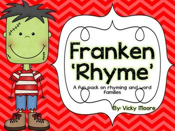 Halloween Pack { Franken Rhyme Center and October Teaching Pack }
