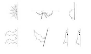 Halloween Package - Simple drawings for practice, decoration and creativity