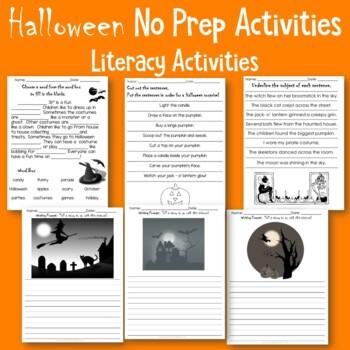 Halloween No Prep Activities  Literacy and Math