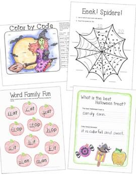 Halloween Activities Packet for 1st Grade