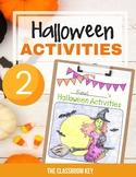 Halloween Activities Packet for 2nd Grade