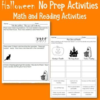 Halloween Literacy and Math Freebie