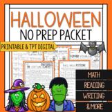 Third Grade Halloween Math and Reading Worksheets | Hallow