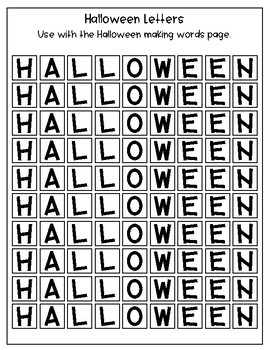 Halloween Packet - Word Skills, Word Searches and Poetry - Updated 2017!!