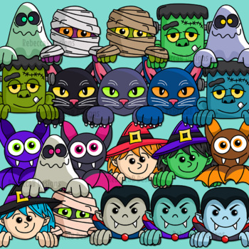 Halloween Page Toppers Clip Art