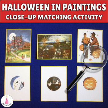Halloween Painting and its Piece Matching Cards