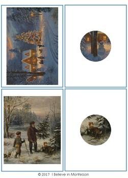 Christmas Painting Close-Up Matching Activity