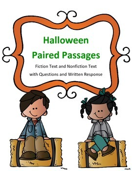Halloween Paired Passages: Fiction Text and Nonfiction Text with Questions