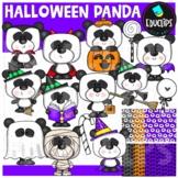 Halloween Panda Clip Art Set {Educlips Clipart}